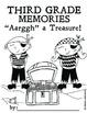 Third Grade Memory Book: Pirate Theme