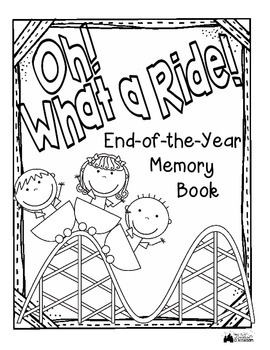 End of the Year Memory Book - What a Ride Roller Coaster Theme!