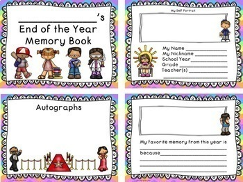 End of the Year Memory Book With Autograph Page--End of Year Memory Book