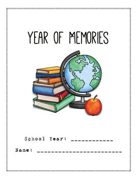 End of the Year Memory Book Write On Printable
