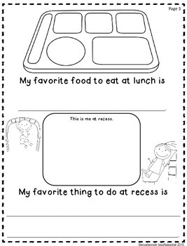 End of the Year Memory Book Writing Activity for Kindergarten and 1st Grade