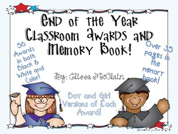 End of the Year Memory Book and Class Awards