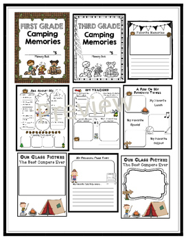 End of the Year Activities- Camping Theme