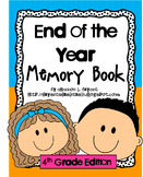 End of the Year Memory Book for Fourth Grade