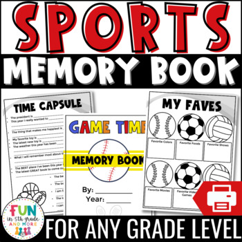End of the Year Activity | Memory Book: Sports Theme {Grades 3-6}