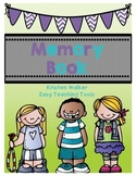 End of the Year Memory Book for K-5