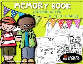 {End of the Year Memory Book} for Kindergarten or First Grade!