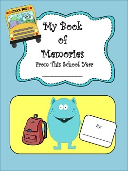 End of the Year Memory Book for Students to Make As A Keepsake About Their Year