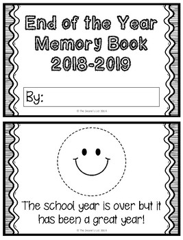 Freebie: End of the Year Memory Book for Students with Special Needs