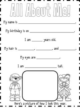 End of the Year Memory Book for Third Grade
