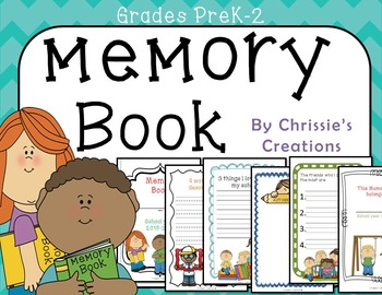 End of the Year Memory Book for students