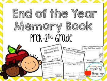End of the Year Memory Book (Prek-2)