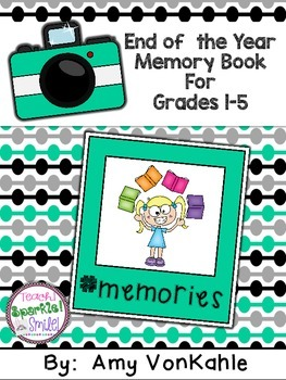 End of the Year Memory Book #memories