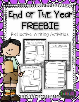End of the Year Memory Book - free activities