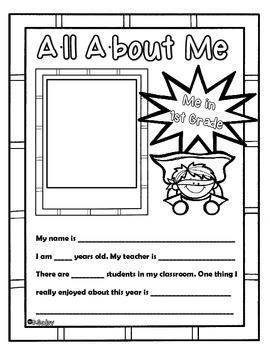 End of the Year Memory Book (superhero) 1st Grade