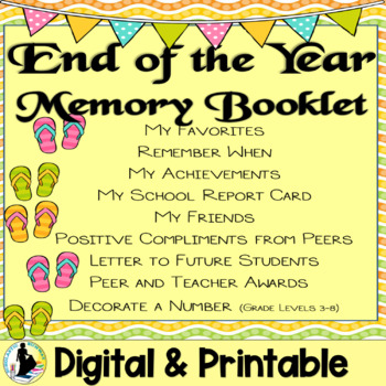 End of the Year Memory Booklet Activities