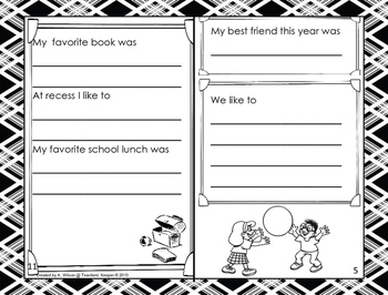 End of the Year Memory Booklet (Primary Grades)