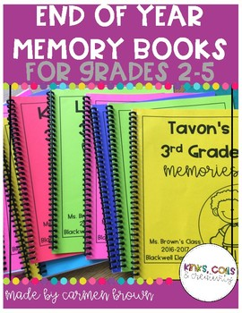 End of the Year Memory Books for Grades 2-5