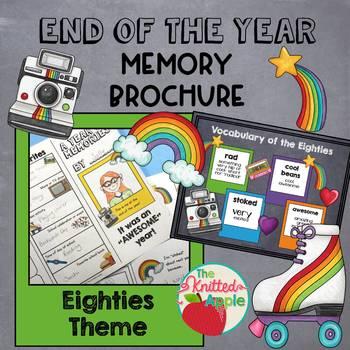 Eighties Theme End of the Year Memory Brochure