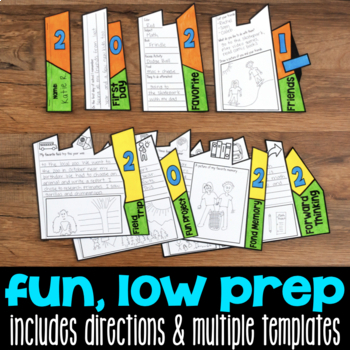 End-of-the-Year Memory Flap Book Craftivity