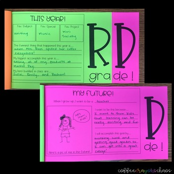 End of the Year Memory Flipbook - Third Grade