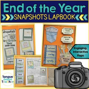 End of the Year Activities - Memory Lapbook Keepsake {Grades 2 - 6}