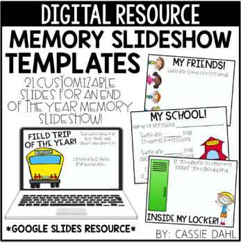 End of the Year Memory Slideshow (Digital Templates)