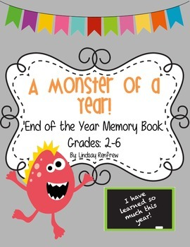 End of the Year Memory Yearbook *Grades 2-6*
