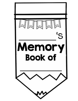 End of the Year Memory book writing activity pencil themed