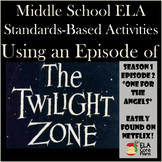 """ELA  Halloween Fun! The Twilight Zone Episode Activities """"One for the Angels"""""""