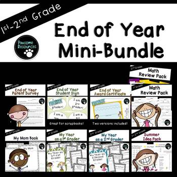 End of the Year Bundle (First or Second Grade)