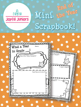 End of the Year Mini Scrapbook