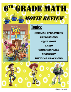 End of the Year Movie Review 6th Grade Math