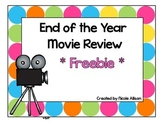 End of the Year Movie Review {Freebie}