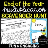 End of the Year Multiplication Scavenger Hunt