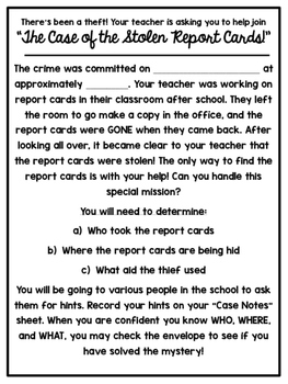 Fun Mystery! Real Life CLUE with Stolen Report Cards