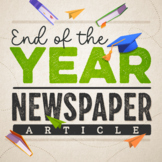 End of Year Writing Activity