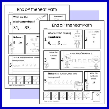 End of the Year No Prep Common Core Math (kindergarten)