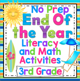 3rd Grade End of the Year Activities Reading, Writing, and Math Review