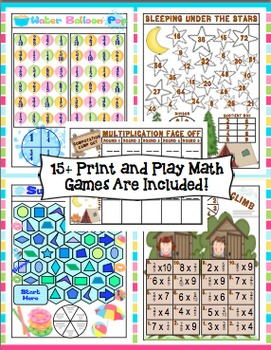 End of the Year Activities: 4th Grade End of the Year Print and Go Activities
