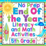 5th Grade End of the Year Activities Reading, Writing, and Math Review