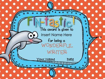 End of the Year Ocean Themed Award Certificates {Editable}