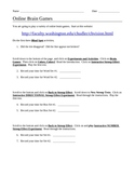 End-of-the-Year Online Brain Games Worksheet