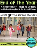 End of the Year Organization and Teacher Tips Freebie