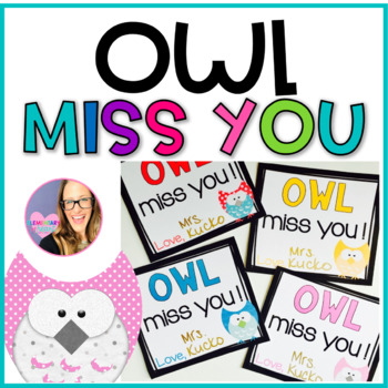 End of the Year Owl Miss You Gift Tags