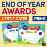 End of the Year PRE-KINDERGARTEN Student Superlative Awards Certificates