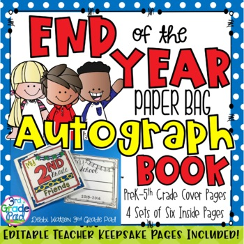 End of the Year Memory Book for Autographs & Signatures