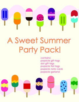 End of the Year Party Pack- Popsicle Theme