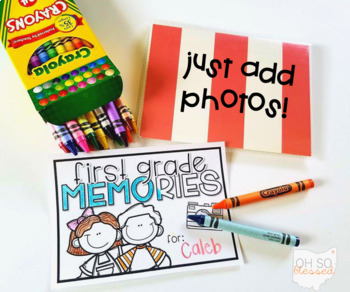 End of the Year Photo Memory Book