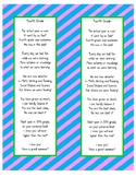 End of the Year Poem-4th grade